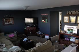 dark blue walls living room homes design inspiration