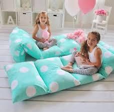 pillow bed for kids girls floor lounger soft pillow bed cushion kids sleepovers slumber