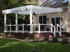 Backyard Deck Pictures by Deck With Screened Porch Screened Porches Pergolas And Porch