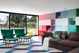 Bright Colorful Living Room Ideas Ing Futuristic Sofa In Red - Colorful living room