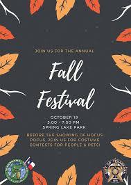 annual fall festival at lake park fm