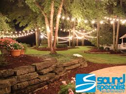 Outdoor Cafe Lighting by Louisville Event Lighting Sound Specialist Entertainment