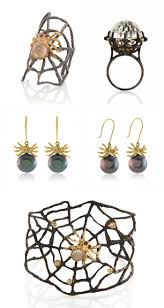 a halloween roundup spider jewelry black pearl earrings pearl