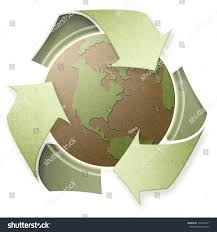 art of recycle concept art recycle on earth paper stock illustration 104354171