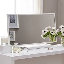 white vanity table with mirror pimlico dressing table mirror mirrors the white company uk