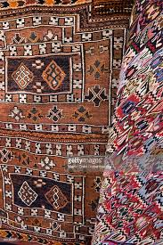 Traditional Rugs Traditional Rugs For Sale Cavalry Bazaar Istanbul Turkey Stock