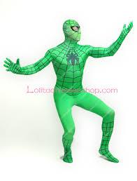 spiderman halloween costumes cheap green spiderman lycra spandex full body zentai suit sale at