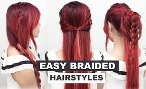 4 easy braided hairstyles l heatless hairstyles l cute