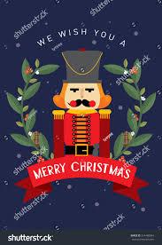 nutcracker christmas greeting card template vectorillustration