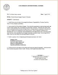 recommendation letter formatair force letter of recommendation
