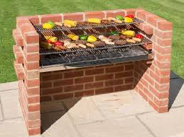 brick outdoor bbq grill in the backyard building an outdoor bbq