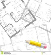 architect plan vector architect plan with a furniture flat stock vector image
