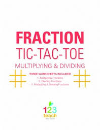 multiply and divide fractions review game partner activity tic