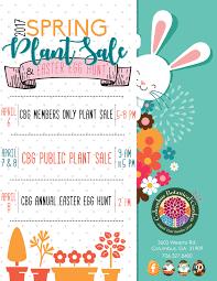 easter egg sale cbg plant sale easter egg hunt columbus botanical garden