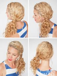 hairstyles at 30 30 curly hairstyles in 30 days day 3 braided side ponytail