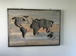 World Map Wood Wall Art by World Map