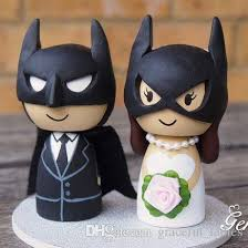 batman cake toppers 14cm handmade wedding cake topper batman and wonderwoman