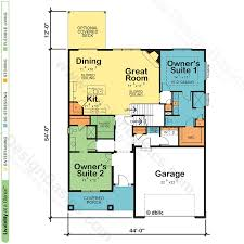 Octagon Home Floor Plans by House Plans With Two Owner Suites Design Basics