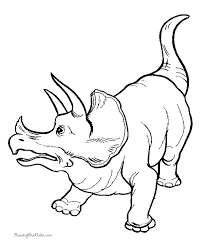 dinosaur coloring pages triceratops coloring page