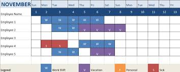 Monthly Work Schedule Template Excel Free Human Resources Templates In Excel
