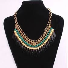 choker necklace sale images Hot sale bohemian resin beads choker necklace for women collier jpg