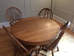 Keller Dining Room Furniture Keller Furniture Oak Dining Room Table And 4 Chairs For Sale In