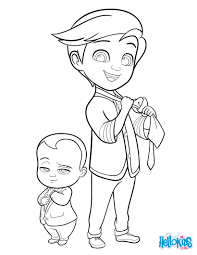 boss baby and tim coloring pages hellokids com coloring home