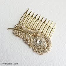 24k gold peacock comb deco comb gold hair comb gold comb
