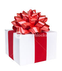 christmas present bows christmas present with bow and ribbon includes clipping path