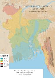 Isoline Map Definition Contour Map Of Bangladesh