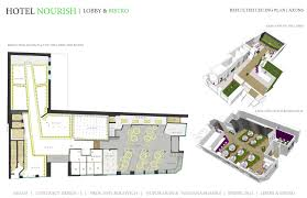floor plan of a hotel hotel nourish lobby bistro guestrooms 1st runner up a u0027design
