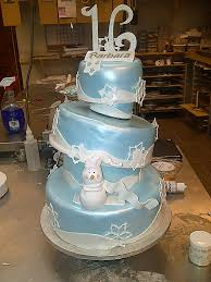 cakes by allie topsy turvy winter wonderland sweet 16 cake