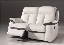 canapé relaxation electrique canapé 2 places 3 places relax électrique en cuir blanc