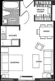 Sq Ft Layout With A Creative Floor Plan Actual Studio - Studio apartment layout design