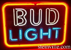 bud light lighted sign bud light neon beer sign tubes parts