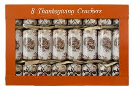 thanksgiving crackers box of 8 traditional