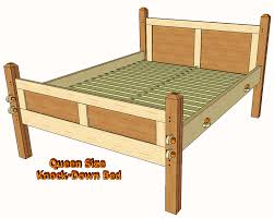 Woodworking Plans For Beds by Knock Down Queen Size Bed As An Alternative To All Of The Bed In A
