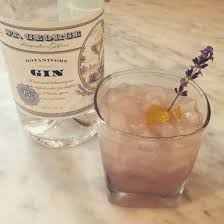 lavender cocktail lavender basil gin fizz my scoop
