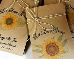 sunflower seed wedding favors our grow etsy