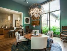 lshade chandelier hgtv Dining Rooms With Chandeliers