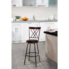home decorators collection adjustable height brown swivel