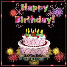imagenes de pasteles que digan feliz cumpleaños sueños de amor y magia feliz cumpleaños find make share gfycat