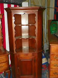 how to arrange a corner china cabinet lot antique stickley corner curio cabinet with lower