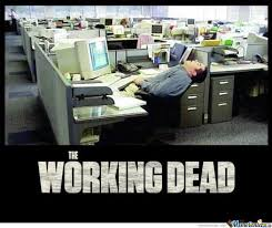 Exhausted Meme - working dead by pichi meme center