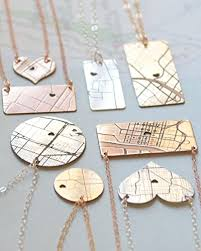 engrave a necklace engraved personalized map necklace handmade