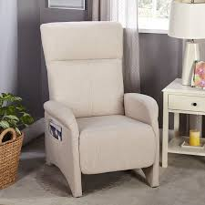 Recliner Accent Chair Simple Living Addin Beige Small Reclining Accent Chair Free