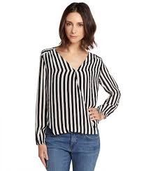 black and white striped blouse chelsea flower black and white striped silk crossover blouse