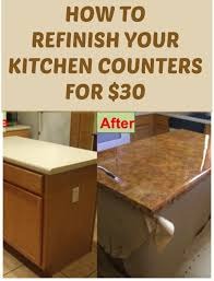 Diy Kitchen Countertop Ideas How To Refinish Your Kitchen Counter Tops For Only 30 Counter