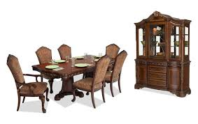 9 piece dining room set majestic 9 piece dining set with china bob s discount furniture
