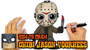 how to draw jason voorhees friday the 13th youtube